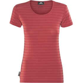 Mountain Equipment Groundup Tee Damen poppy stripe